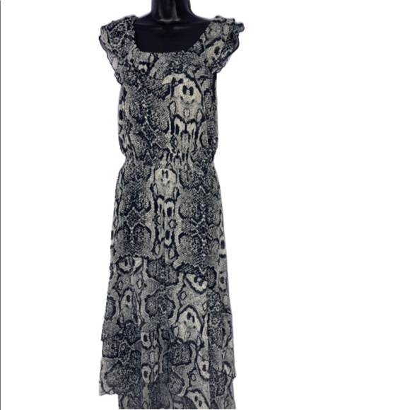 Madison Dresses & Skirts - Madison hi low snake print chiffon dress